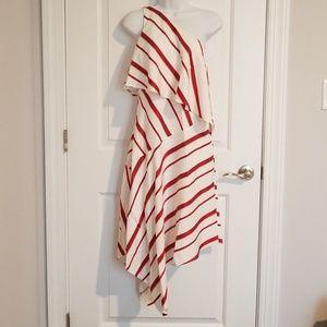 Banana Republic Striped Asymmetrical Dress